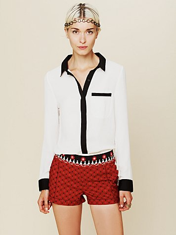 Free People Meadow Embroidered Short