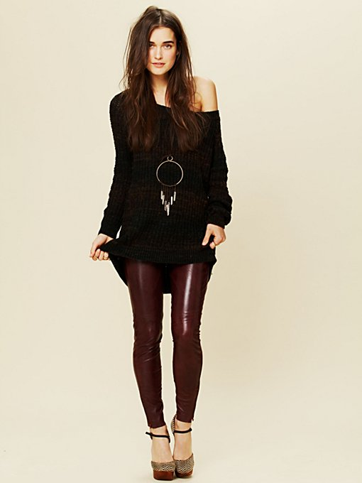 Muubaa Verona Leather Skinny in Skinny-Pants