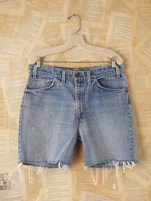 Free People Vintage Denim Cutoffs in vintage-jeans