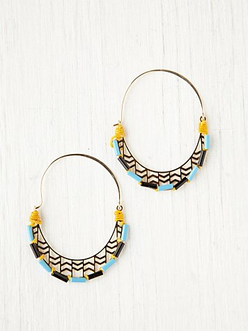 Canyon Beaded Hoops