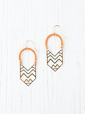 Kris Nations Montana Arc Earrings