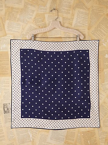 Free People Vintage Dot Printed Scarf