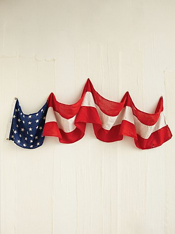 Free People Vintage Red, White, and Blue Banner
