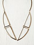 Bentuk V Bronze Necklace