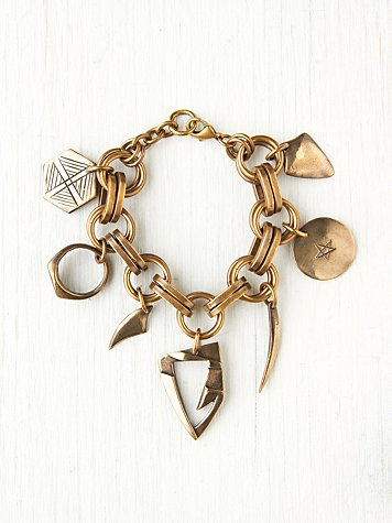 Annie Costello Brown Super Hero Charm Bracelet
