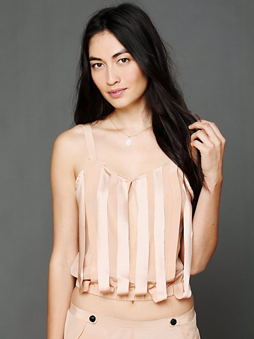 Ribbon Silk Camisole