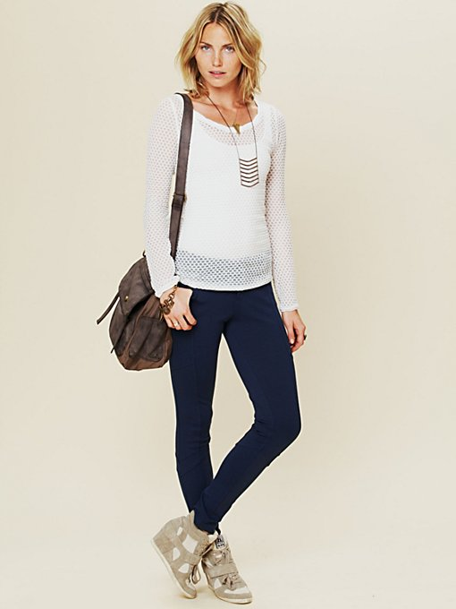 Free People Seams Cool Knit Legging in crochet-leggings