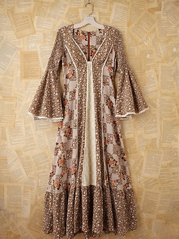 Free People Vintage Floral Peasant Maxi Dress