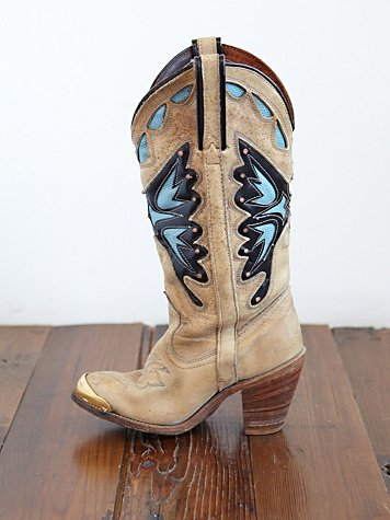 Free People Vintage Leather Cowboy Boots
