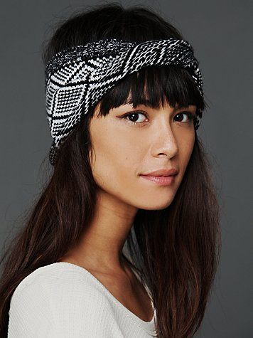 Diamond Jacquard Twist Headwrap