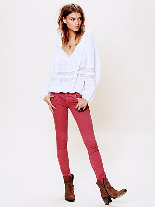 Free People Colored Skinny Jean in Jeans