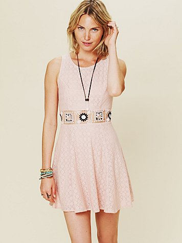 Colorblock Daisy Fit and Flare Dress
