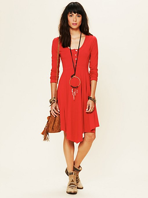 Miles of Henley Mini Dress in knit-jersey