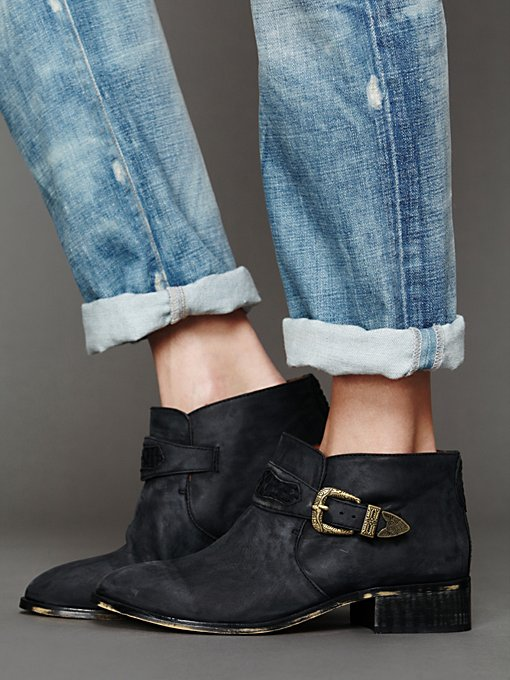 Jeffrey Campbell + Free People Distressed Collins Boot in Military-Boots