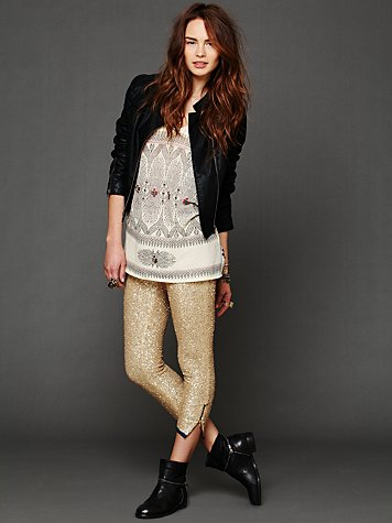 One Teaspoon Sequin Cropped Pant