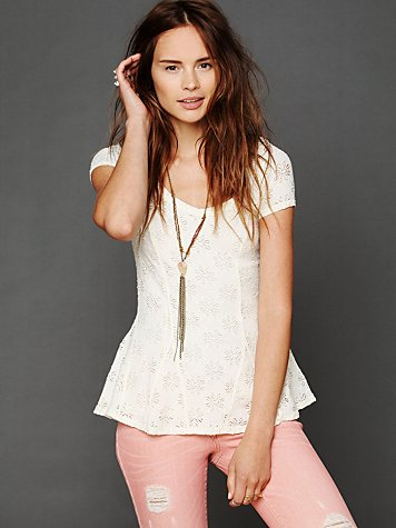 Free People Daisy Peplum Top