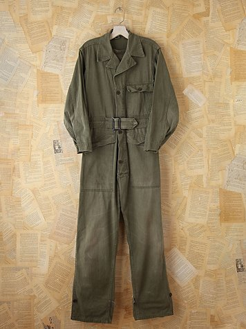 Free People Vintage Military Jumpsuit