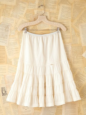 Vintage Tiered Slip Skirt