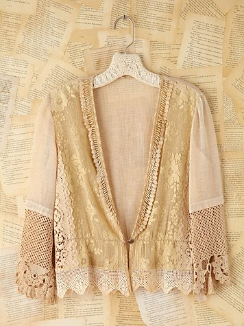 Free People Vintage Crochet Cardigan