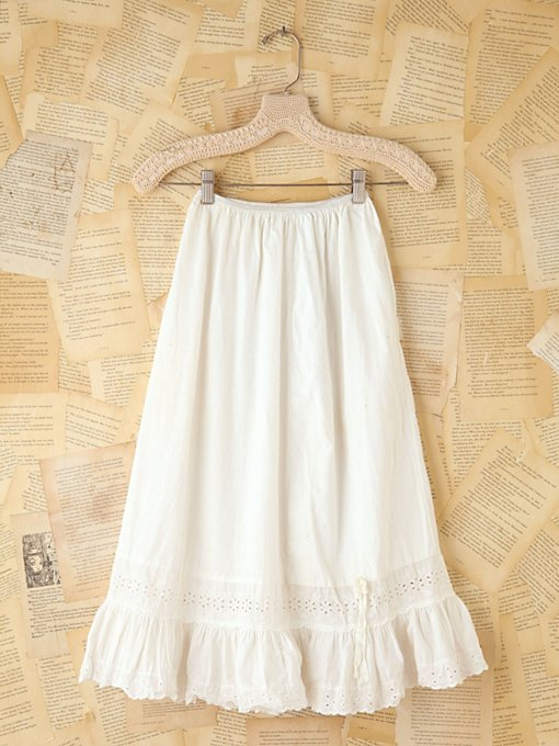Free People Vintage Cotton Eyelet Midi Skirt in vintage-skirts
