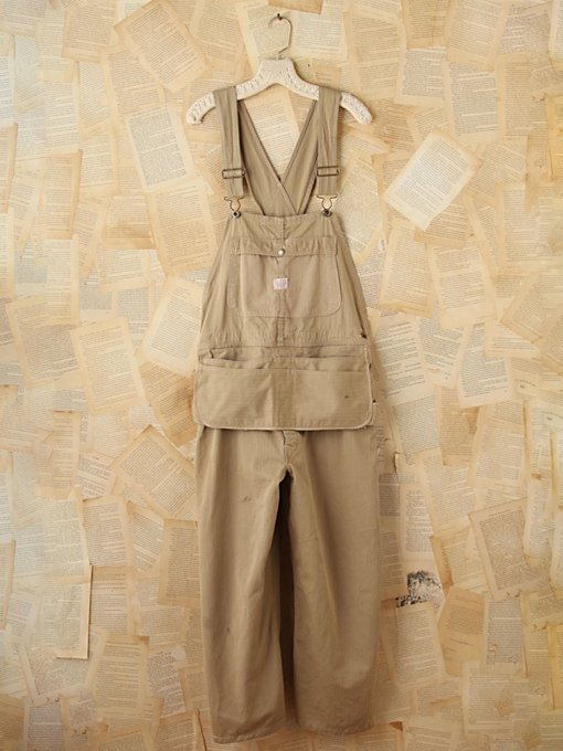 Free People Rare Vintage Army Overalls in vintage-skirts