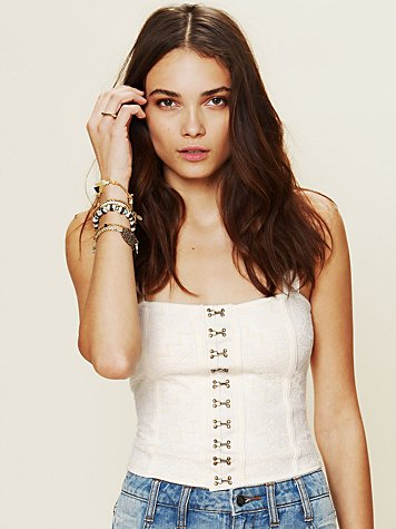 Free People Patchwork Corset Tank