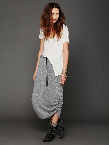 Lily Shirred Maxi Skirt
