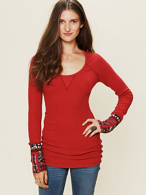 Free People Hippie Cuff Thermal in tops