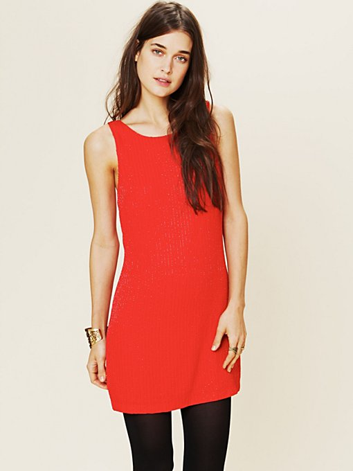 Free People Beaded Shift in Shift-Dresses