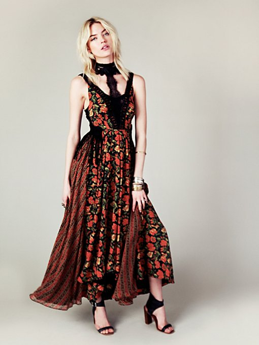 Free People FP New Romantics Black Magic Dress in Floral-Dresses