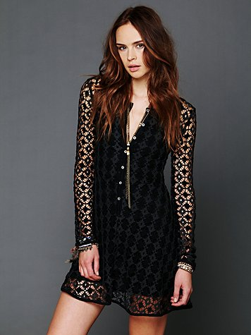 Free People Crochet Cadet Dress
