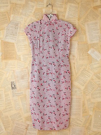 Free People Vintage Floral Printed Silk Dress