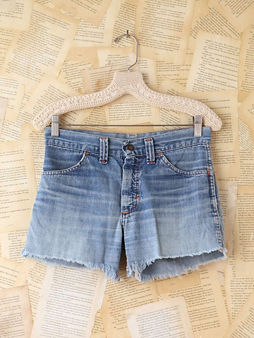 Free People Vintage Patchwork Denim Shorts in vintage-jeans
