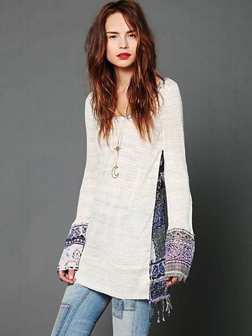 Printed Fringe Tunic in sale-sale-sweaters