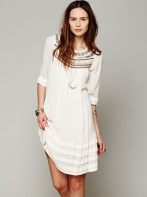 Free People Ribbons And Rows Dress in Day-Dresses