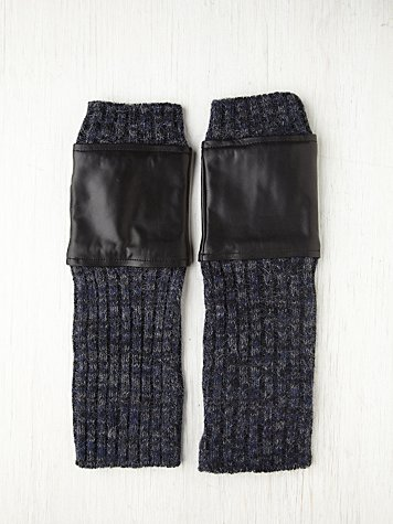Leather Melange Knit Armwarmer