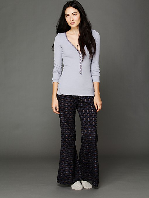 Printed Dobby Lounge Pant in sale-sale-bottoms