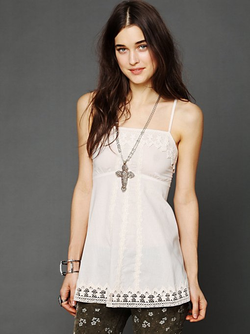 Free People Dobby Shine Cami in Party-Tops