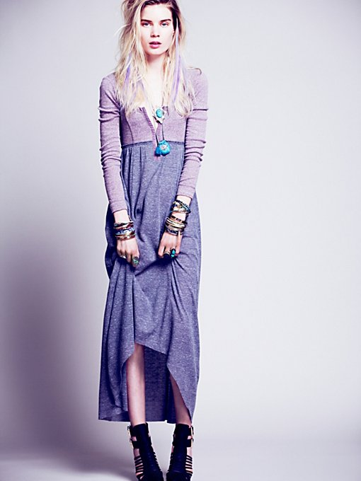Got You Hooked Maxi in knit-jersey