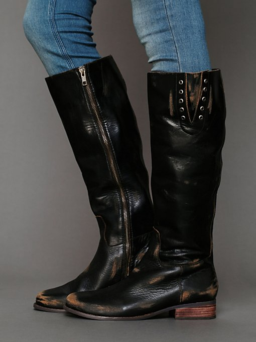 Faryl Robin for Free People Errol Leather Boot in Knee-High-Boots