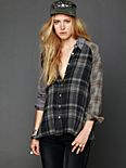 Plaid Hi Low Buttondown Tunic