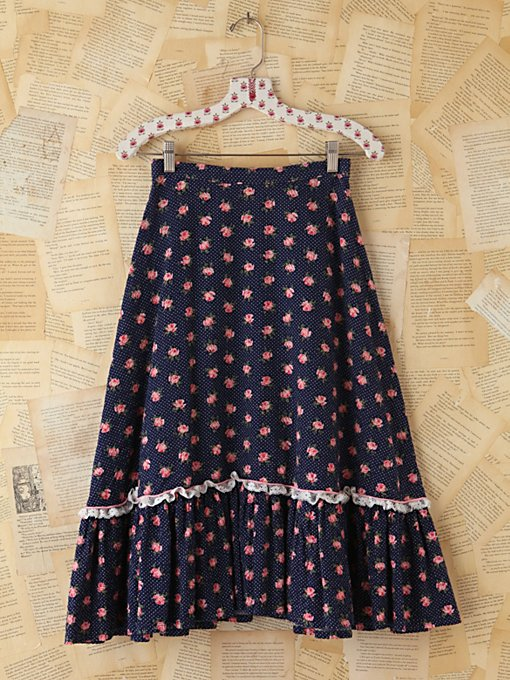 Free People Vintage Ditzy Floral Skirt in vintage-skirts