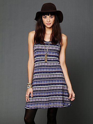 Free People Fairisle Fit and Flare Dress