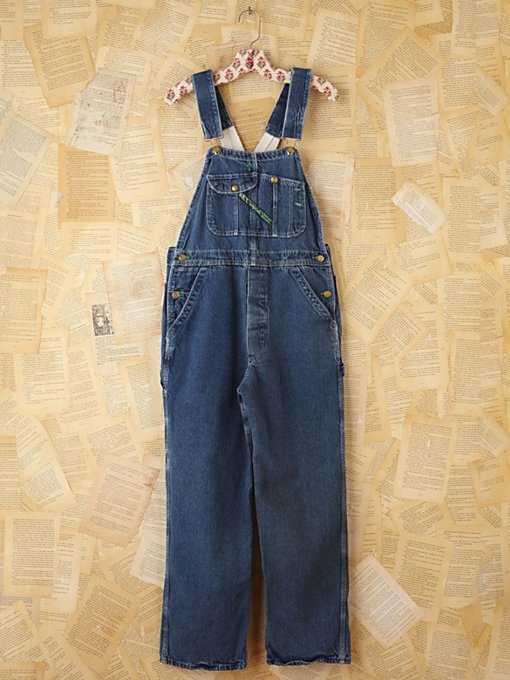 Free People Vintage Key Denim Overalls in vintage-jeans