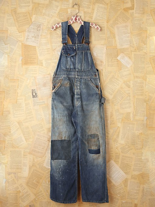 Free People Vintage Big Mac Denim Overalls in vintage-jeans