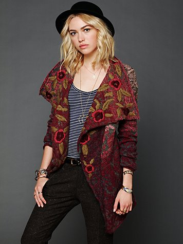 Free People Rose Meadow Cardigan