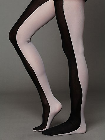 Look From London Half and Half Opaque Tights