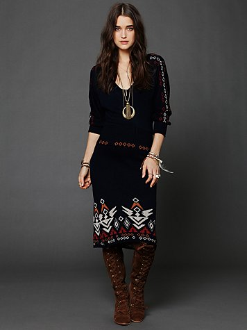 Free People Back in the Day Sweater Dress