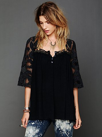 Free People Cutwork Tunic