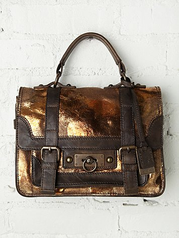 Frye Carin Metallic Satchel